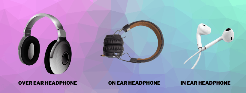 over ear vs on ear vs in ear headphones major differenes and types